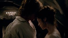 Outlander S1E07: The Wedding-Part 1 Jamie & Claire....You can feel the chemistry