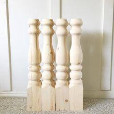 Chunky Farmhouse table legs www.jamirayvintage.com