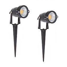 bright outdoor waterproof decorative spotlight 5w cob led landscape garden lawn wall yard path decor lights