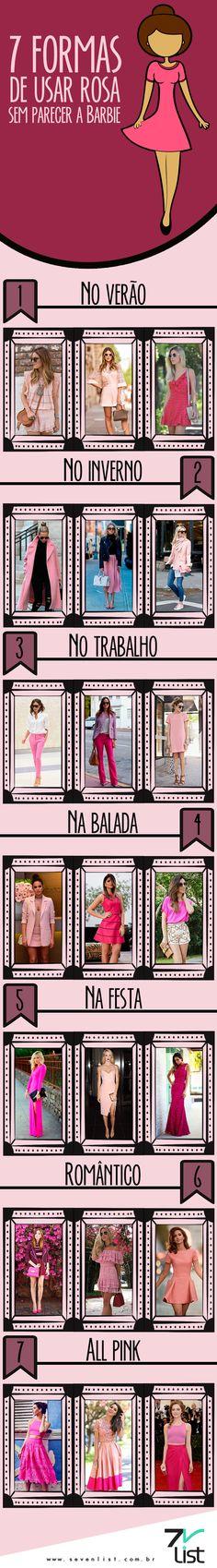 #Moda #Fashion #Pink #Rosa #SevenList #OutubroRosa #SevenList #Art #Design #Look #Outfit