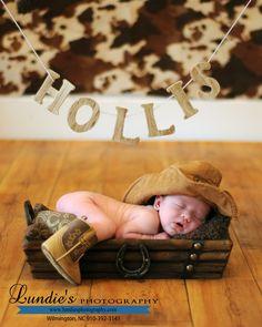 Newborn Photography Baby Cowboy