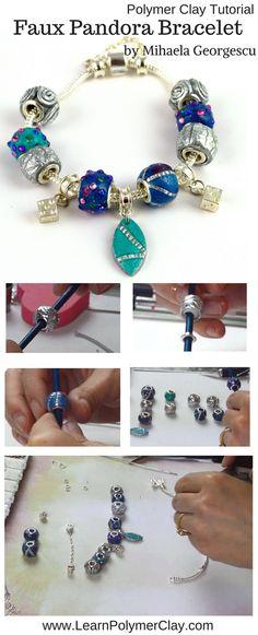 Faux Pandora Bracelet [Polymer Clay Video Tutorial]