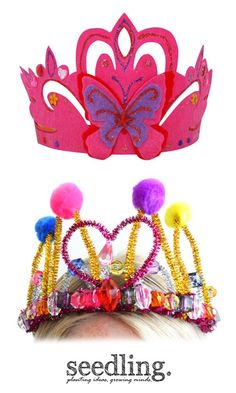 It's an essential for every princess's wardrobe – your very own sparkly, colorful crown.