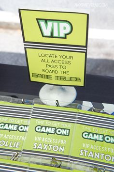 Instant Download - GAME TRUCK Gamer Personalized VIP All Access Badges - Editable & Printable by lulucole on Etsy