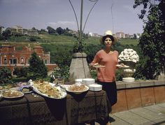 Sophia Loren having lunch on the second floor terrace of her villa near Lake Albano, Rome. Photograph: Alfred Eisenstaedt/Time & Life Pictures/Getty Image