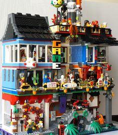 Lego Ninjago City, Lego Humor, Casa Lego, Lego Minifigure Display, Lego Film, Lego Furniture, Lego Building Blocks, Lego Craft, Lego Modular