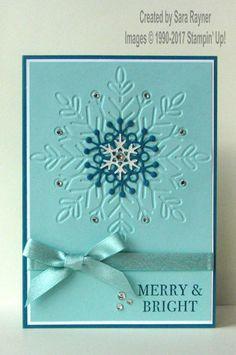 Sneak peek - stepped up Winter Wonder card - Sara's crafting and stamping studio Chrismas Cards, Christmas Cards 2017, Create Christmas Cards, Stamped Christmas Cards, Simple Christmas Cards, Homemade Christmas Cards, Noel Christmas, Xmas Cards, Homemade Cards