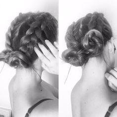 Dutch braid space buns - Hair Pop | Hair Extensions - www.HairPop.net