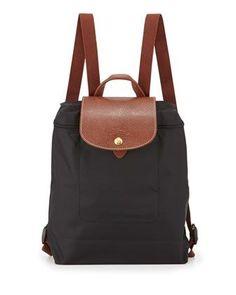 Le Pliage Nylon Backpack, Black by Longchamp at Neiman Marcus.