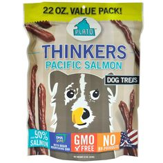 Plato Thinkers Salmon Sticks Dog Treats(2Pack) Natural meat sticks with over 90-percent salmon, and ginkgo biloba and DHA to support healthy Read  more http://dogpoundspot.com/dog-luxury-store-2172/  Visit http://dogpoundspot.com for more dog review products