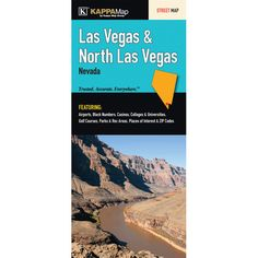 Las Vegas/North Las Vegas Fold Map (Set of 2)