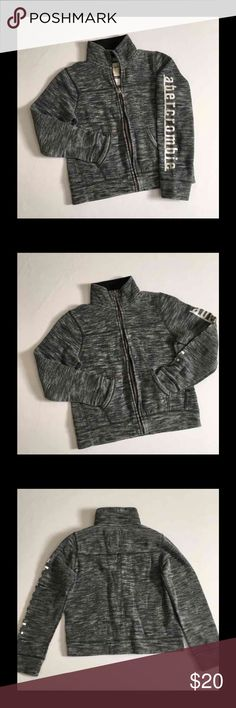 Abercrombie Zip Front Jacket Girls (Kids)  size 11/12  Abercrombie zip front jacket  All 100% Cotton   No I can not ship for free or change the price of shipping. Shipping is the actual cost I am being charged.    EUC Non smoking environment No stains, snags or damage M 1492/ W .65 abercrombie kids Jackets & Coats