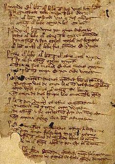 Manuscrito del Libro de buen amor conservado en la Biblioteca Nacional de España.
