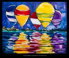 New England Hot Air Balloons Painting - Jackie Schon, The Paint Bar