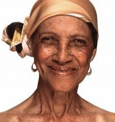 97-year-young Irene Sinclair [a great-grandmother from London] was the face of an international beauty campaign for Dove.
