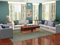 The First In The Designer Series. An Elegant Living Room In Pastels. 2  Variations Included Found In TSR Category U0027Sims 3 Living Room Setsu0027