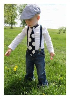 Baby Boy / Toddler Necktie and Suspenders in Royal by callyfindlay, $29.65