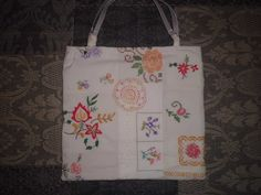Handtasche - Shopper ~ Vintage Stickerei ~ - ein Designerstück von Traum-Taschen bei DaWanda