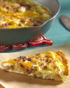 """Spanish Frittata (onion and potato)    From the book """"Mad Hungry,"""" by Lucinda Scala Quinn (Artisan Books)."""