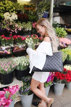 Fashion Blogger Elin Melander from http://klaeli.comin our Chanel - https://bagista.co.uk/search?type=product&q=Chanel