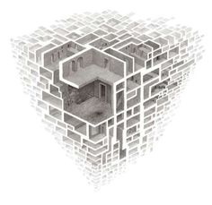 This is an interesting concept, making a 3D cube Maze inwhich you could just off the maze to enter the rooms ?