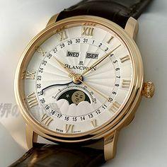 Blancpain ブランパン ヴィルレ コンプリートカレンダー ムーンフェイズ ハーフハンター Ref.6664-3642-55B #watches