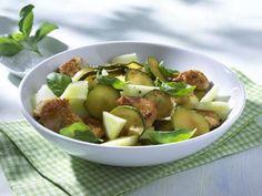 Rezept Zucchini-Melonen-Salat mit Putenbrust, unser Rezept…