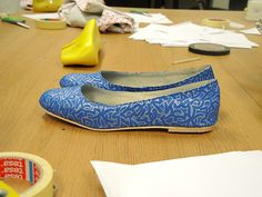 Made during our 1 day shoe making course 'Ballet pumps for beginners' - http://icanmakeshoes.com/courses/