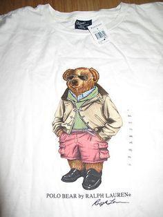 6dd197f1b9f Ralph Lauren Preppy Polo Bear Pink   Green T-Shirt