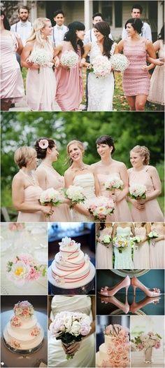 Pale Pink Wedding and Reception-Repin by Inweddingdress.com