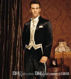 Selecting cheap custom made size and color tailcoat style groom tuxedos best man groomsmen men wedding suits bridegroom…