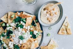 Healthy Snacks, Healthy Recipes, Snacks Für Party, Nachos, Feta, A Food, Tapas, Hummus, Vegetarian