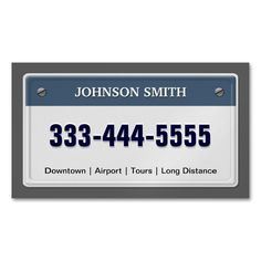 Limo and Taxi Service - Cool Licensed Plate Magnetic Business Cards (Pack Of 25). I love this design! It is available for customization or ready to buy as is. All you need is to add your business info to this template then place the order. It will ship within 24 hours. Just click the image to make your own!
