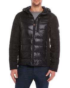 Hfx Performance Apparel Insulated Rogan Quilted Nylon Jacket