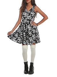 HOTTOPIC.COM - Black Floral Dress