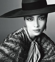 Fei Fei Sun in Vogue Italia, photographed by Steven Meisel.