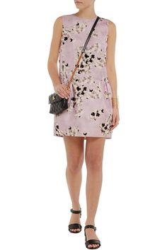 Giambattista ValliFloral-print silk-organza dressfront