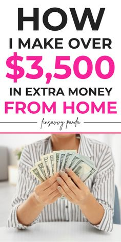 Earn More Money, Ways To Earn Money, Money Tips, Make Quick Money, Make Money From Home, Make Money Online, Online Jobs For Moms, Online Work From Home, Earn Extra Cash