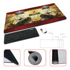 Hot Gaming Rubber Mouse Pad Notbook World of Tanks Computer Desk Mice keyboard Play Mats 300*600mm,300*700mm,300*800mm,300*900mm