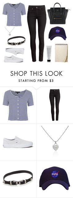 """""""Summer Outfit #13"""" by one-direction-outfits-of-the-day ❤ liked on Polyvore featuring Topshop, H&M, Vans and Tiffany & Co."""