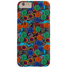 Colorful candy lollipops in an all over print repeating pattern.