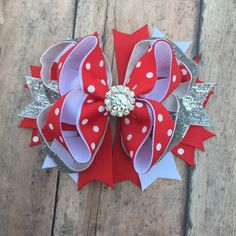 Red hair bow - Valentine's Day Hairbow - Valentine's Day hair bow - Valentine's Day bow - Festive Hair Clip - Valentine's Day Boutique Bow by BBgiftsandmore on Etsy