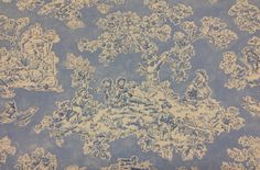 Childs Play Toile Fabric  Blue and white  Fabric by ShopMyFabrics
