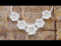 Uncinetto | Collana Fiori di Ghiaccio | Crochet | Snow Flowers Necklace - YouTube