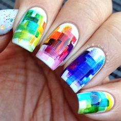 Abstract Summer Nails #nails