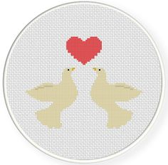 FREE for Jan 14th 2015 Only - Love Doves Cross Stitch Pattern