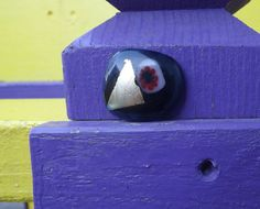 Fused Glass Magnet by PiecesofhomeMosaics on Etsy, $5.25