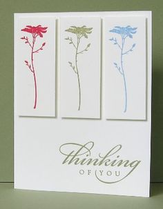 CAS thinking of you card - bjl Stamps: Of the Earth, Thoughts and Prayers, All Year Cheer Inks: Mellow Moss, Rose Red, Bashful Blue