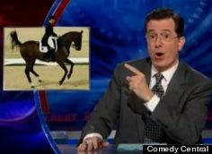 "Video link to Colbert Report coverage of Dressage ""the Sport of the Summer"""