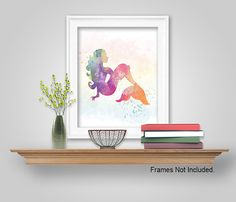 Mermaid Wall Art Decor - Mermaid Wall Art DIY Printable